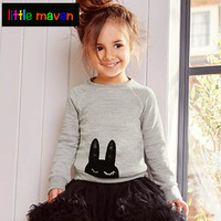 Kids Clothes Girls Long Sleeve Sweatshirt Baby 2017 Autumn Trendy Girls Top Tees Animal Pattern Children