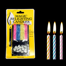 10pcs Pack Creative Birthday Candle That Wont Blow Out Funny Tricky Smokeless