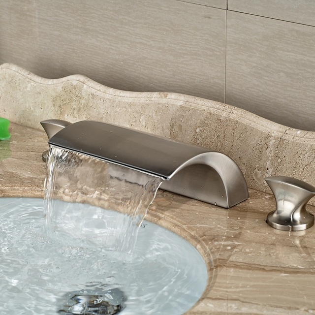 Wholesale And Retail Brand New Luxury Brushed Nickel Widespread