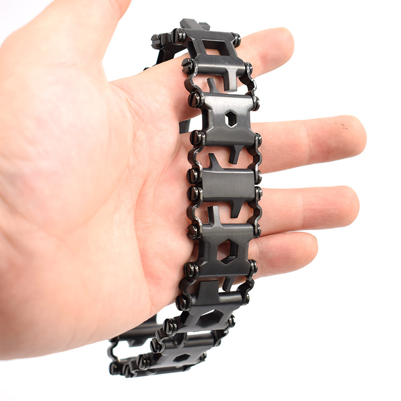 Hottime  stainless steel outdoor kinds of multi functional tool bracelet Multi