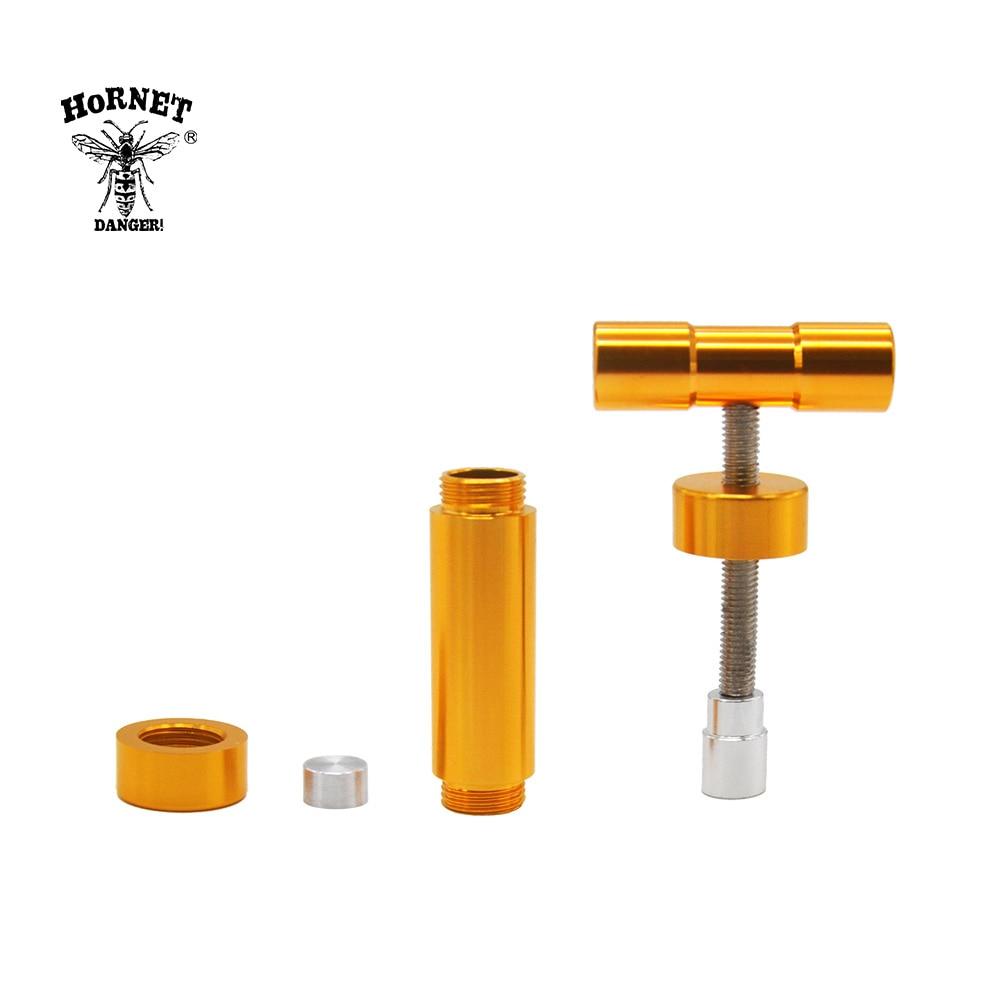 HORNET Aluminum Manual Heavy Duty T Handle Pollen Presser 110MM Press Compressor Herb Grinder Tobacco Spice  Crusher Accessories