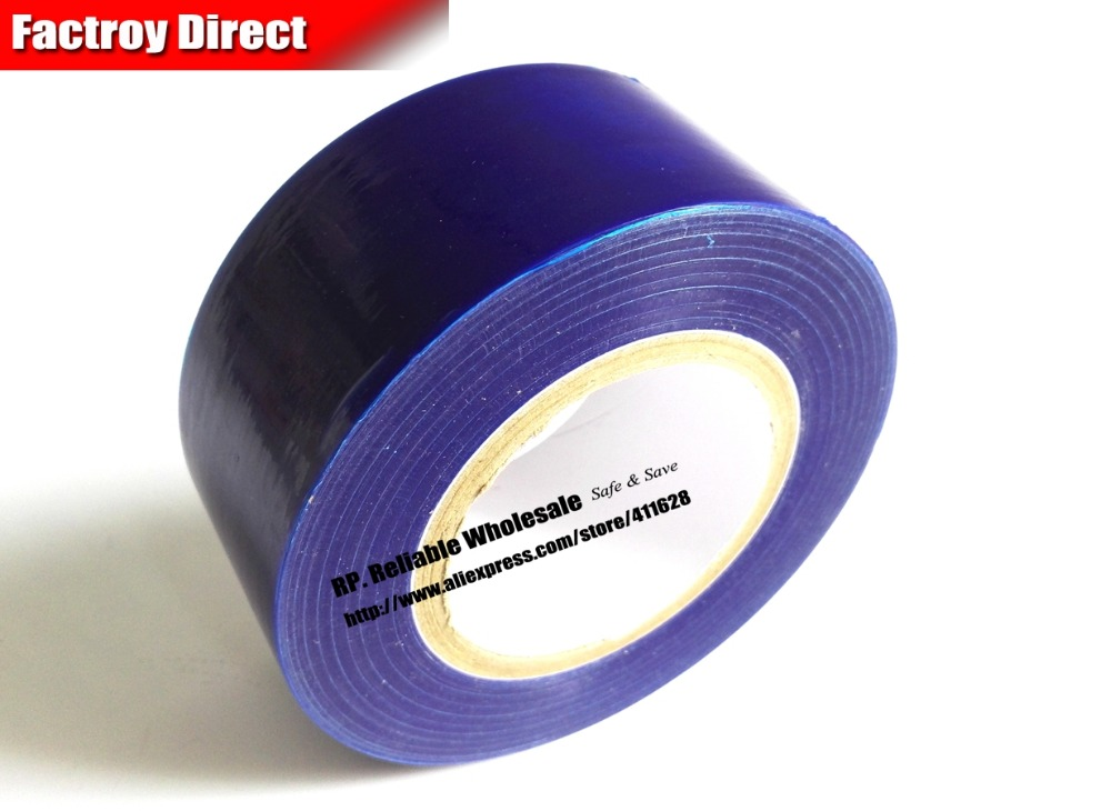 цена на 70mm* 200M*0.05mm Blue Protective Film Duct Tape for Stainless Metal Surface, Windows Frame, Tablet Glass Mask