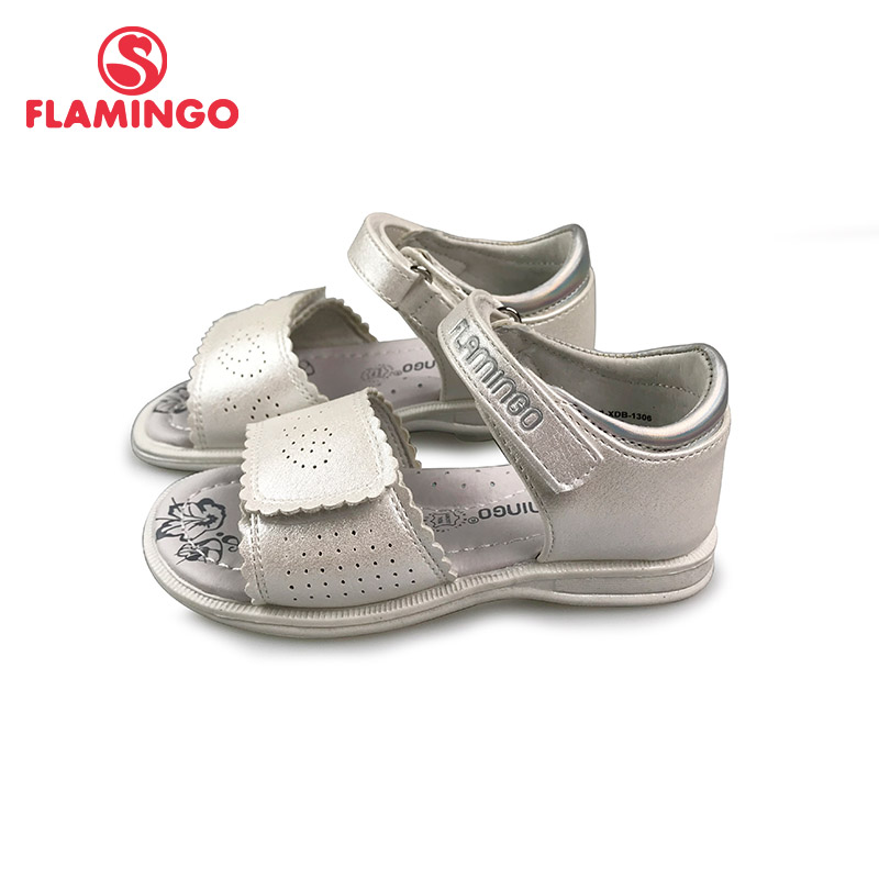 FLAMINGO 2019 Summer Kids Sandals Hook& Loop Flat Arched Design Chlid Casual Princess Shoes Size 22-28 For Girls 91S-XDB-1306