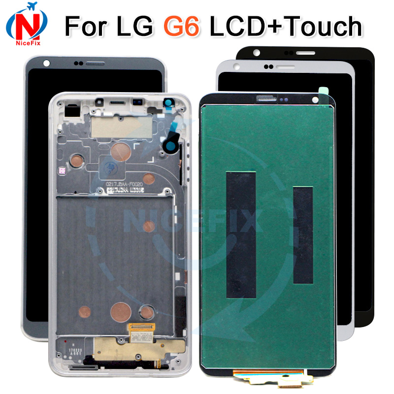 ORIGINAL For LG G6 LCD Display Touch Screen digitizer with Frame For LG G6 H870 H870DS