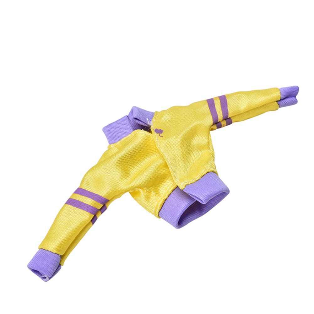 MYPANDA 3 ชิ้น/เซ็ตแฟชั่น Handmade ฤดูใบไม้ร่วงเสื้อผ้าสำหรับเสื้อเหลืองกางเกงสีดำ Rainbow Vest ตุ๊กตาฤดูใบไม้ผลิเสื้อผ้า