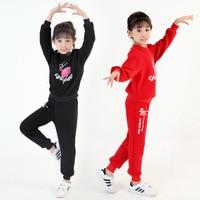 Children Latin dance clothing children dancewear cotton underwear set
