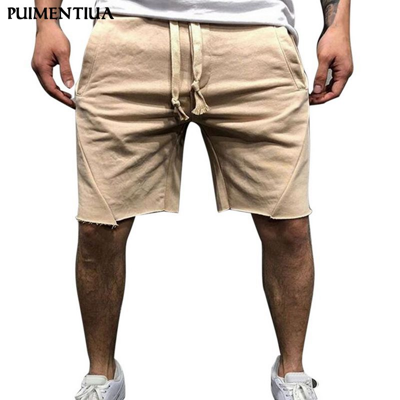 Puimentiua Summer Men Casual Sports Loose Shorts Solid Color Running Breathable Fitness Shorts Quick Dry Bodybuilding Shorts big toe sandal