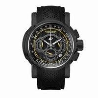 Риф Тигр Аврора Serier RGA3063 Для мужчин многофункциональный циферблат Спорт Водонепроницаемый хронограф Мода кварцевые наручные часы черный Д