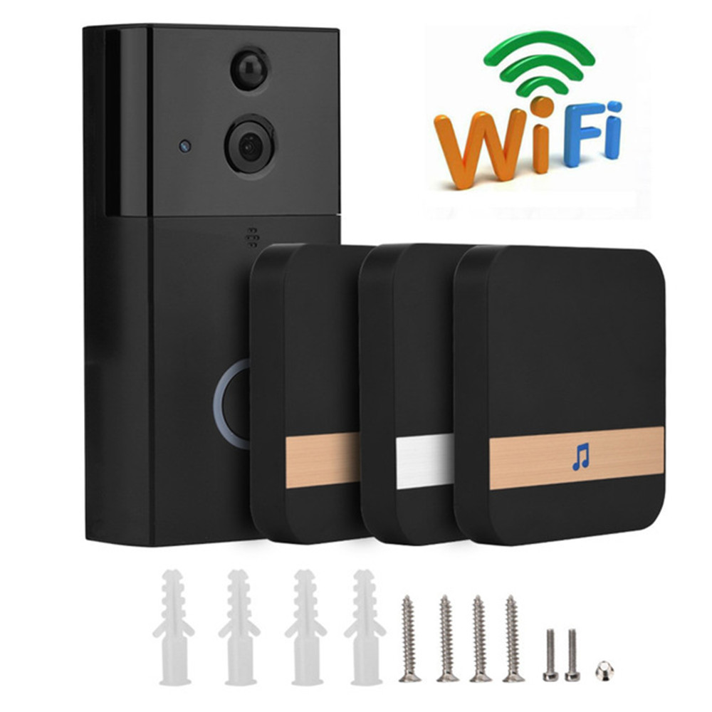 Smart WiFi caméra vidéo sonnette 720 P HD sans fil vidéo porte téléphone caméra de sécurité avec PIR détection de mouvement Vision nocturne 1MP-in Sonnette from Sécurité et Protection on AliExpress - 11.11_Double 11_Singles' Day 1