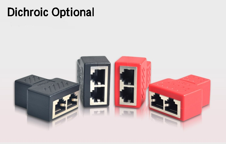 IsMyStore: 1 To 2 Ways LAN Ethernet Network Cable RJ45 Female Splitter Connector Adapter Splitter Extender Plug Adapter Connector