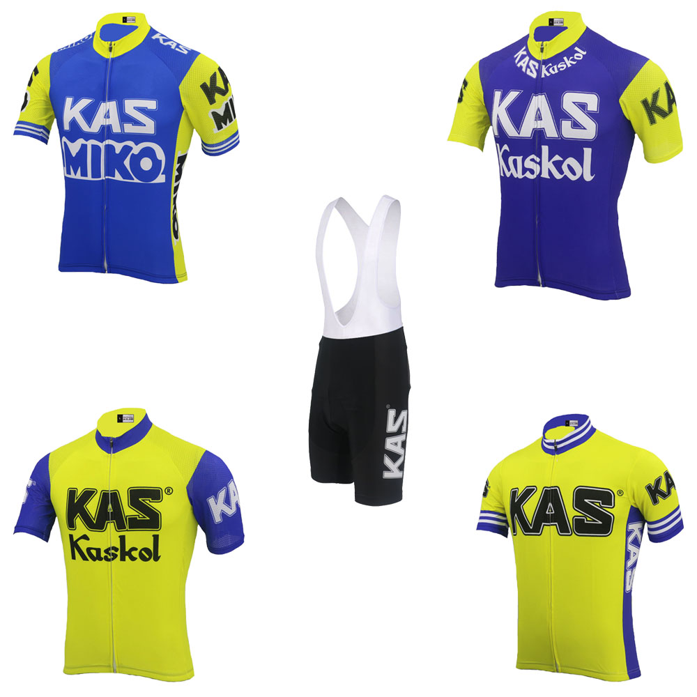 KAS cycling jersey set <font><b>bike</b></font> <font><b>wear</b></font> jersey set and bib shorts Gel Pad Outdoor sports Cycling clothing ropa Ciclismo MTB image