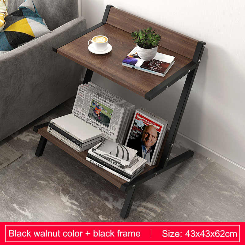 Astonishing Wood Double Layer Coffee Table Living Room Sofa Side Table Small Dining Table Organizer Storage Small End Table Home Furniture Inzonedesignstudio Interior Chair Design Inzonedesignstudiocom