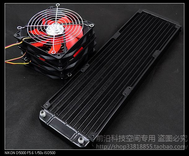 Computer water cooling radiator 360p water discharge pure aluminum can set 3 fans 5pcs lot pure copper broken groove memory mos radiator fin raspberry pi chip notebook radiator 14 14 4 0mm copper heatsink