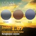 1.67 индекс Индивидуальные 3 Сплошной Цвет Солнцезащитные Очки Линзы Для Оптический Близорукость Очки Для Чтения Кадров Анти-УФ Покрытие