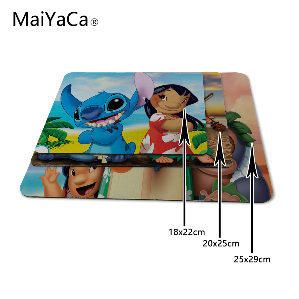 Mouse Pads Maiyaca My Favorite Lilo Stitch Durable Rubber Mouse Mat Pad For Dota2 Cs Lol Player Gaming Mouse Pad Cartoon Pattern Mousepad