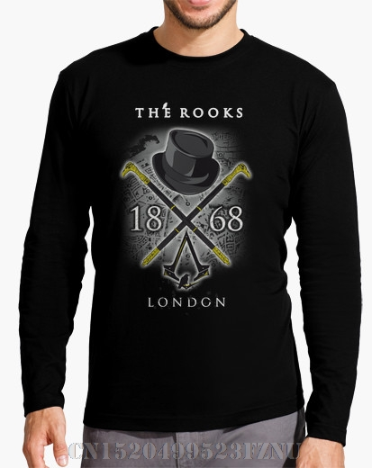 Autumn Panic buying mens Long Sleeve fashion t shirts The Rooks Character Long Sleeves Knitted anime mens Hipster Tees