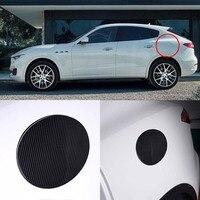 3D Real Carbon Fiber Gas Fuel Cap Door Cover Pad Sticker Decal For Maserati Levante/ Ghibli