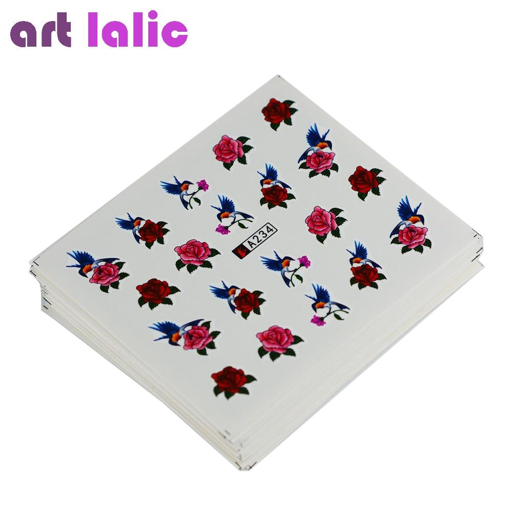 Artlalic 50 Vellen Watermerk Nagel Stickers Mix Ontwerpen Water ...