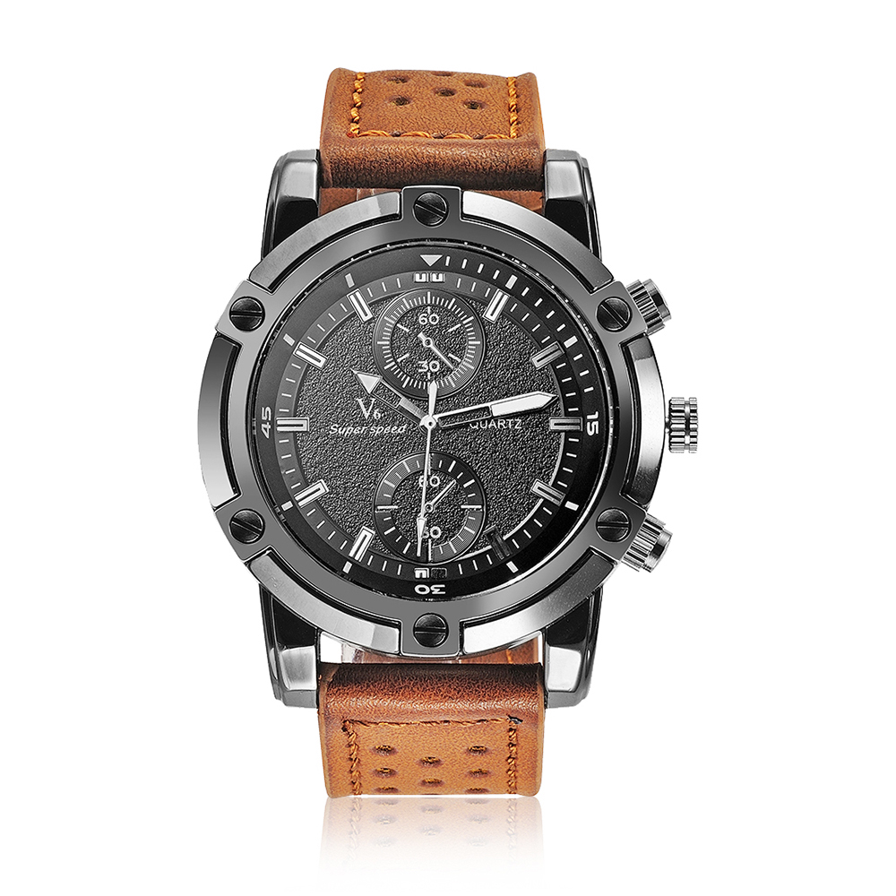 Brand Luxury Casual V6 Mens Watches Military Quartz Sports Wristwatch Leather Strap Clock watch relogio masculino Men's Gift new luxury brand wwoor watches men genuine leather clock fashion sports watch mens casual military wristwatch relogio masculino