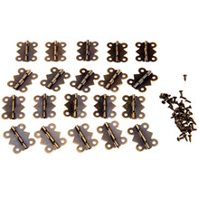 20Pc Antique Bronze Butterfly Kitchen Cabinet Hinge Vintage Jewelry Wooden Box Hinges Fittings for Furniture Accessories 25x20mm 10pcs 16 13mm antique bronze gold cabinet hinges furniture accessories jewelry boxes small hinge furniture fittings for cupboard