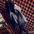 Популярные женские сумки моды старинные шнурок мягкой кожи сумка вязаная мобильные биг-бэги