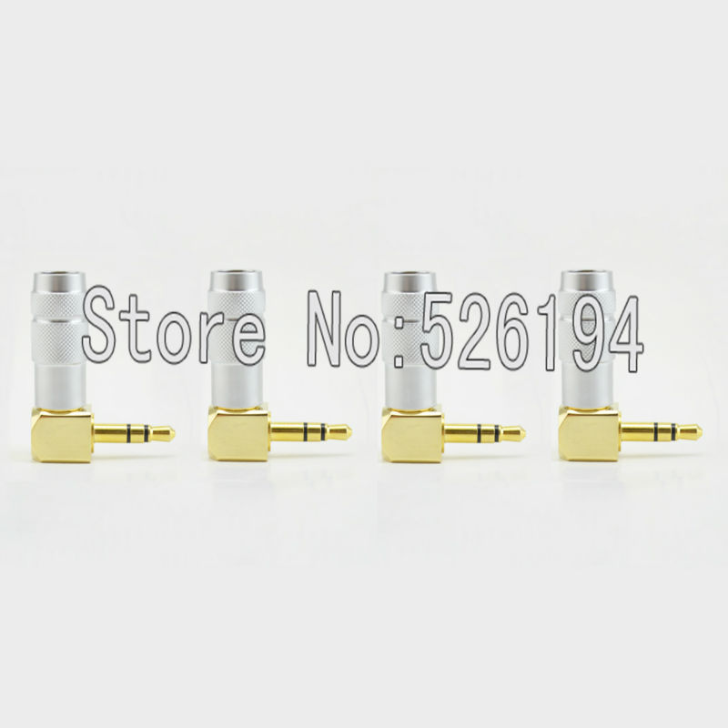 Free shipping 50 pieces Oyaide 3.5mm Stereo Mini-Plug 90 degree Angled Jack Plug P-3.5 GL for Earphone cable