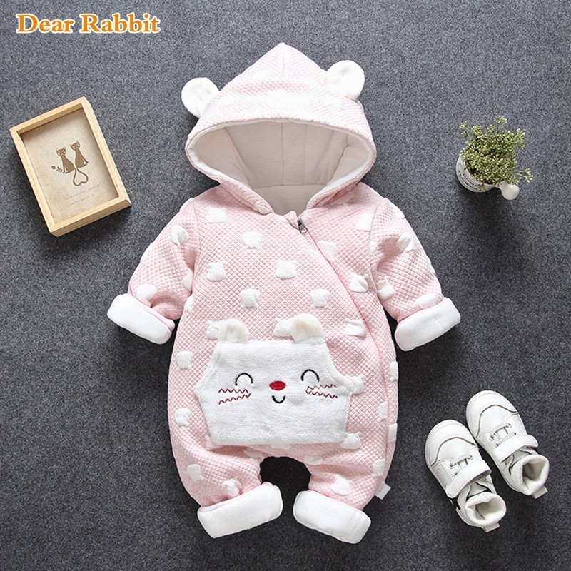 2019 new born Autumn winter Baby onesie jumpsuit costume   romper   Cute Cartoon Infant Girl Boy Jumpers Kids Outfits Warm Clothes