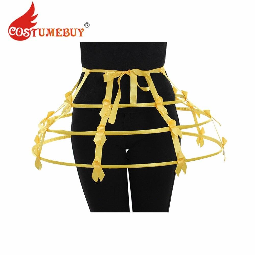 Costumebuy Lolita Skirt Elizabeth Crinoline Hoop Skirt Pannier Bustle Petticoat Cage Underskirt Costume 3 Colors