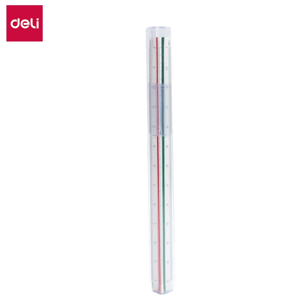 DELI E8930 Triangular Scale Ruler  Trigonous Scale Triangle High Precision Student Stationery