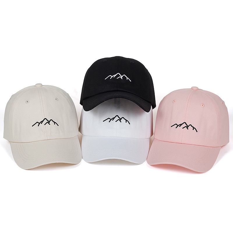 2018 new Mountain range dad hat Mens Womens cotton   Baseball     Cap   Adjustable Snapback   Caps   Fashion golf   cap   hats Bone Garros