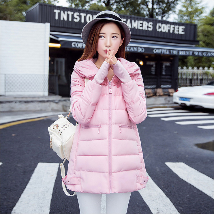 2016 new women's winter coat jacket and long sections Korean Slim Hooded thicker end fashion cuff (cuffs of gloves)