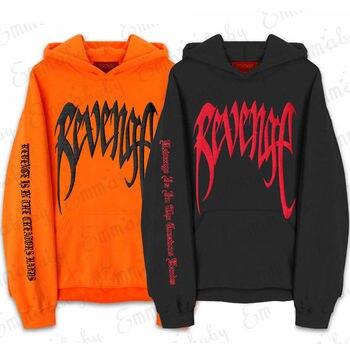 Revenge XXXTentacion Kill MENS Sweat Hoodie Sweatshirt Orange Black sweatshirt