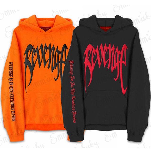 f3ab50b10b367 Revenge XXXTentacion Kill MENS Sweat Hoodie Sweatshirt Orange Black ...