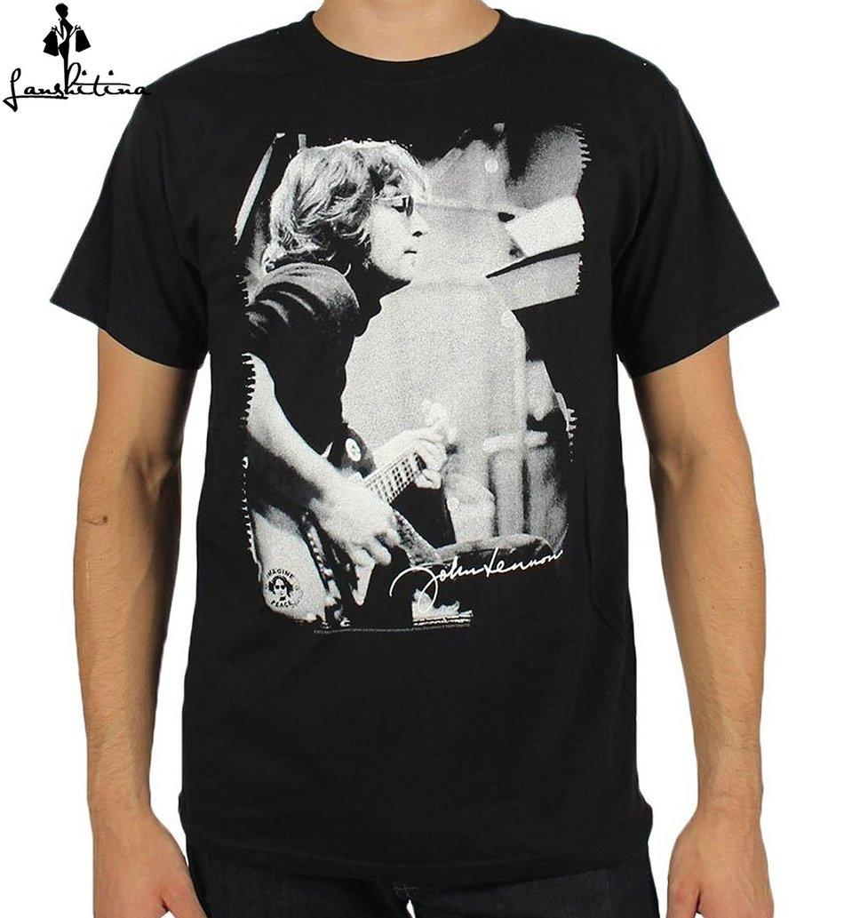 Men fashion t shirt printed men funny t shirt john lennon for Printed t shirts mens fashion