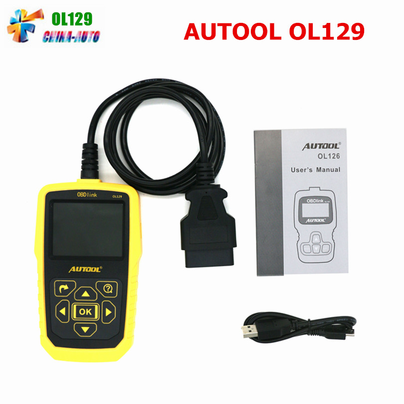 Auto Code Scanner for AUTOOL OL129 Battery Monitor and OBD/EOBD+CAN Diagnostic Tool OBD2 Live Data Stream Replace Autel AL519