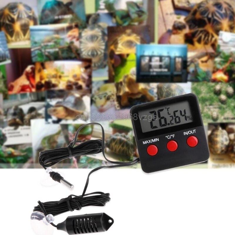 Numérique Thermomètre Hygromètre Reptile Température Humidité w/À Distance Capteur # H028 # Drop Shipping