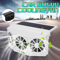 Solar Powered Car Window Air Vent Cool Ventilation System Triple Fan Cooler ABS Solar Powered Auto Ventilation