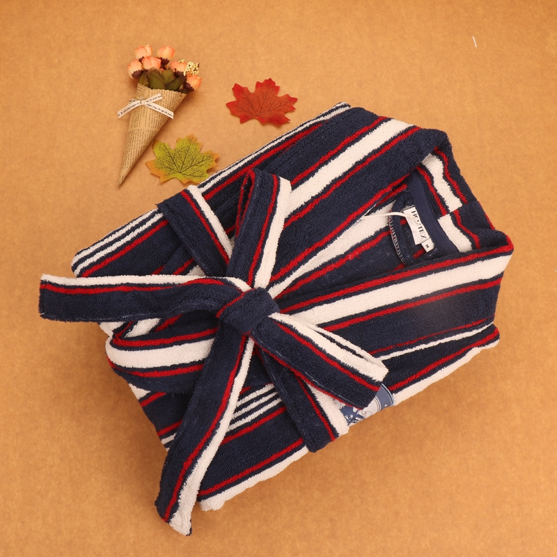 Men's Robe Cotton Bathrobe Thick Towel Fleece Winter Autumn Warm Lounges Pajamas Pyjamas Gentlemen's Homewear Male Sleepwear