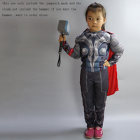 The Avengers Thor Classic Muscle Cosplay Child Captain America Costumes Boys Iron Man Cosplay Kids Carnival