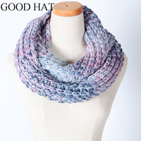 Fashion New Women Girl Winter Scarf Knitted Scarves Collar Neck Warmer Woman S Crochet Ring Loop