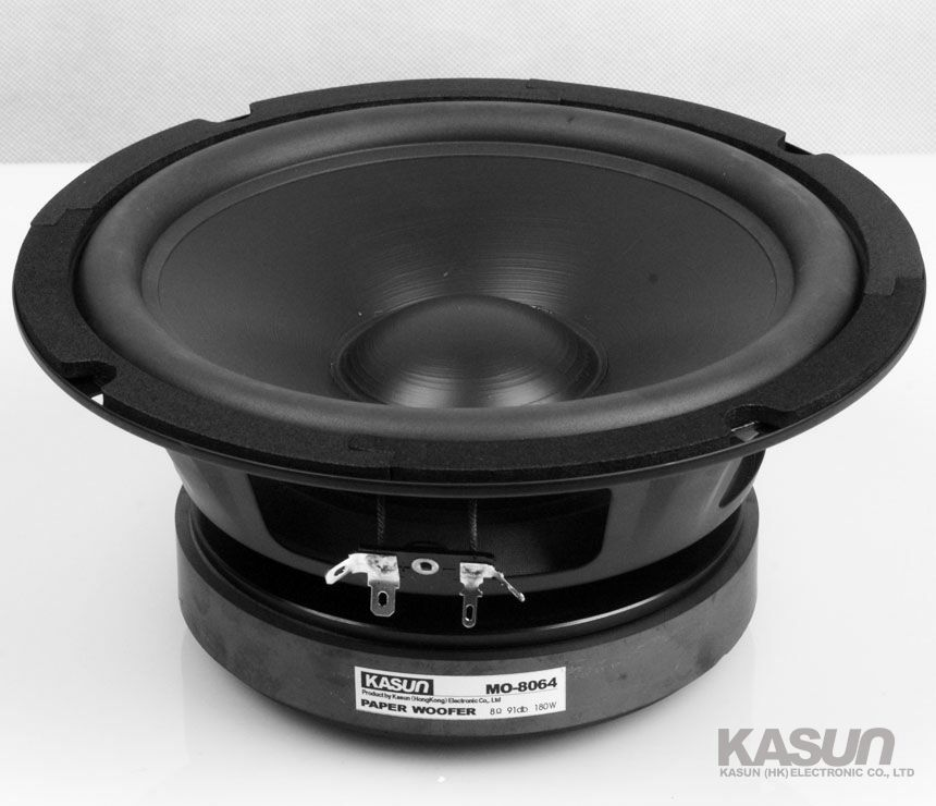 2PCS KASUN MO-8064 8'' Paper Woofer Speaker Driver Unit Deep Bass Suspension 8ohm/180W Fs 37Hz Max Diameter 210mm 2pcs kasun qa 8100 8inch woofer speaker driver unit paper cone 8ohm 140w dia 218mm fs 45hz