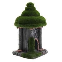 Artificial Ancient House Moss Aquarium Hidden Castle Resin Ornament Aquarium Fish Tank Miniatures Landscape Scenery Decor