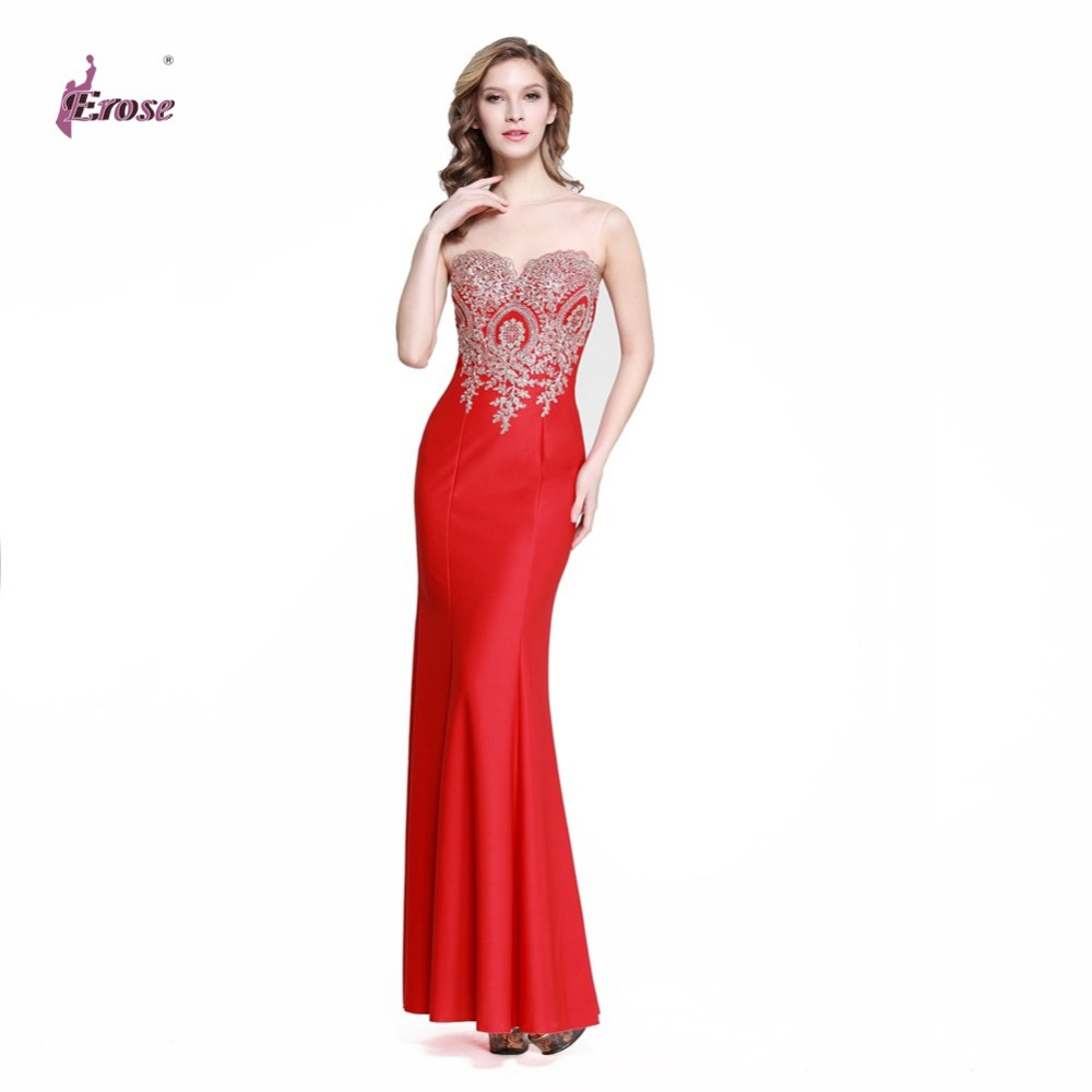 fitted red evening gowns - photo #18