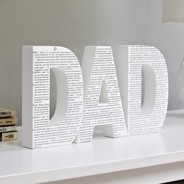 Wooden Letters Adornment Fashion Craft Children Room Sitting Personality Bookshelf Ornament Zakka Home Decor