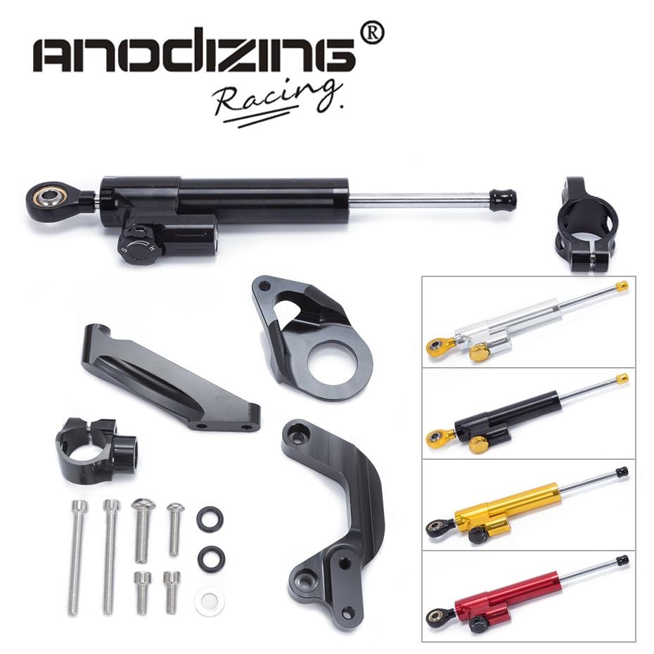 FREE SHIPPING For SUZUKI GSXR1000 GSXR 1000 2009-2015 Motorcycle Aluminium Steering Stabilizer Damper Mounting Bracket Kit