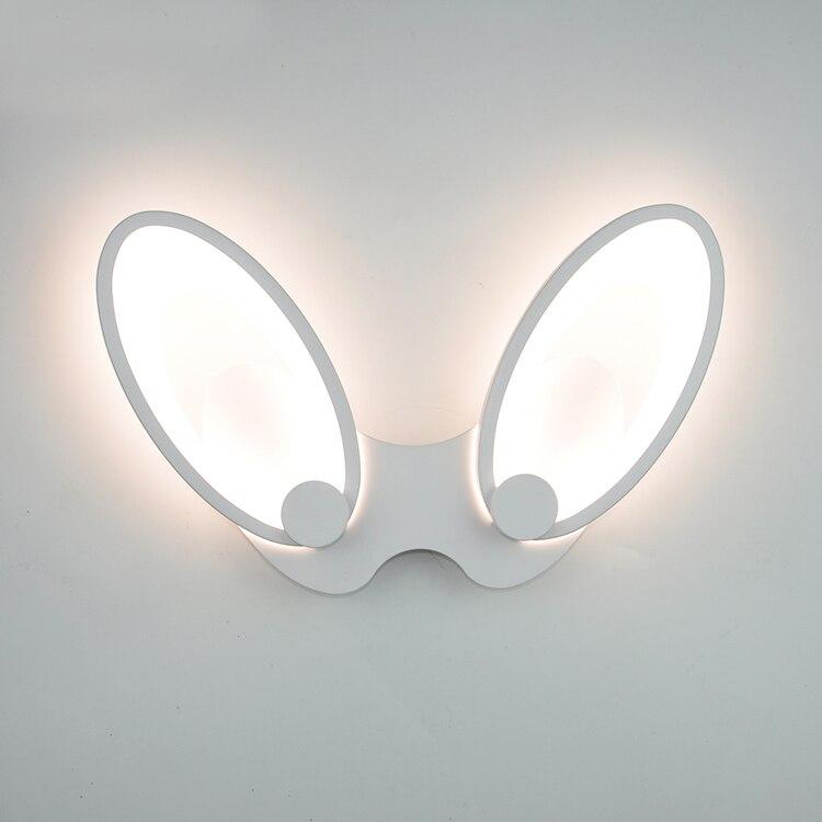 AnpassungsfäHig Nordic Minimalistischen Weiß Eisen Kaninchen Ohren Wand Leuchte Moderne Home Deco Schlafzimmer Nacht Acryl Led Wand Leuchte Lampe Lampen & Schirme Licht & Beleuchtung