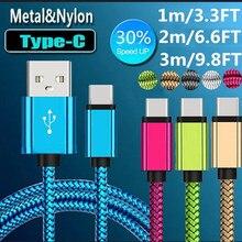 Cabo usb tipo c para xiaomi redmi note 7, k20 pro usbc telemóvel fio de carga rápida tipo c carregador USB C de cabo para samsung s9 s8