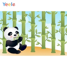 Yeele Panda Bamboo Scene Photography Children Hill Background Child Lovely Cartoon Hillside Backdrops For Photo Studio