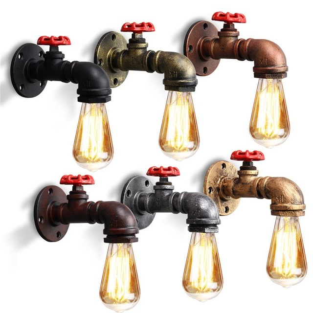 E27 Vintage Industrial Rustic Wall Sconce Wall Light Fixture ...
