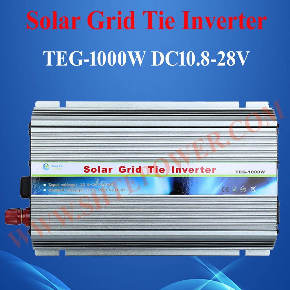 Hot selling 12v mppt solar power inverter, 1kw grid tie inverter for solar panels solar power on grid tie mini 300w inverter with mppt funciton dc 10 8 30v input to ac output no extra shipping fee